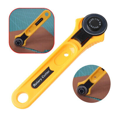 Fabric Leather Craft Yellow 28mm Circular Cut Blade Patchwork Rotary Cutter