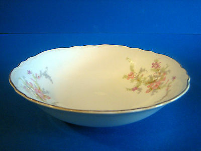 Cereal Bowl WS George Radisson Pink Lavender Flowers Gold Antique