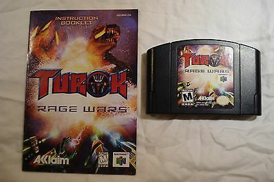 Turok: Rage Wars (Nintendo 64, 1999) Game, Manual and Strategy Guide