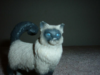 Schleich #16603 RETIRED Burmese Birman cat standing kitty pet HTF Germany made