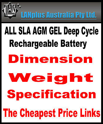 Lanplus SLA deep cycle rechargeable Batteries Dimension Index scooter solarpower