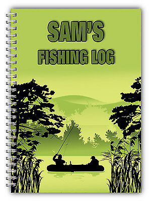 A5 Personalised Fishing Log Book/ Fishing Diary/ Fishing Gift Personalised/04