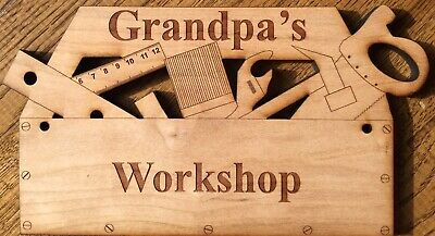 "PERSONALIZED with ANY NAME ""TOOLBOX SHAPED Wooden Sign"" / Retirement  / Birthday"