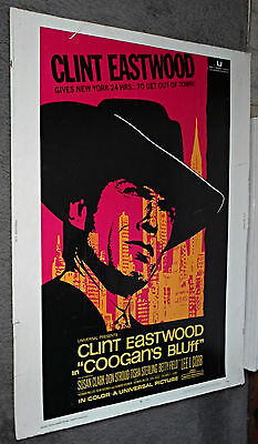 COOGAN'S BLUFF original ROLLED 30X40 1968 movie poster CLINT EASTWOOD