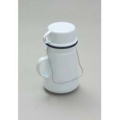 Falcon Traditional White Enamel Tea Can And Cup 11cm Camping Fishing Outdoor