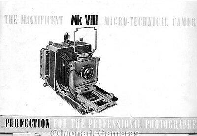 MPP Micro Technical Mk VIII Camera Sales Leaflet. Other Brochures Listed