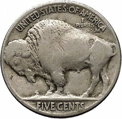 1925 BUFFALO NICKEL 5 Cents of United States of America USA Antique Coin i43671