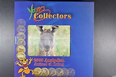 2008 Young Collectors Animal $1.00 Coins in Book by The Australian Perth Mint