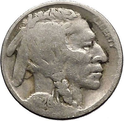 1926 BUFFALO NICKEL 5 Cents of United States of America USA Antique Coin i43676
