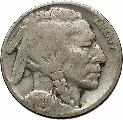 1928 BUFFALO NICKEL 5 Cents of United States of America USA Antique Coin i43710