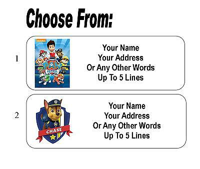 30 Paw Patrol Personalized Address Labels