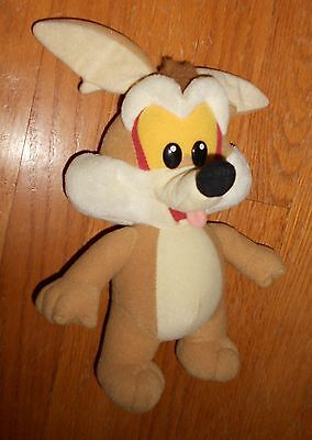 """VTG 90s 11"""" tall Tyco Looney Tunes Baby Wile E. Coyote Plush Doll Toy"""