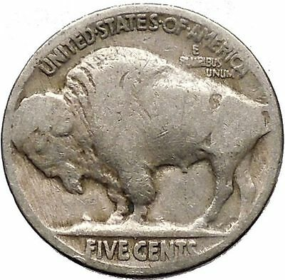 1928 BUFFALO NICKEL 5 Cents of United States of America USA Antique Coin i43715
