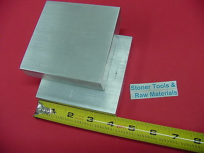 """2 Pieces 1"""" X 3-1/2"""" ALUMINUM 6061 FLAT BAR 4"""" long T6511 Solid Plate Mill Stock"""