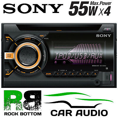 Sony WX-800Ui Double Din CD MP3 USB AUX In iPhone iPod Car Stereo Radio Player