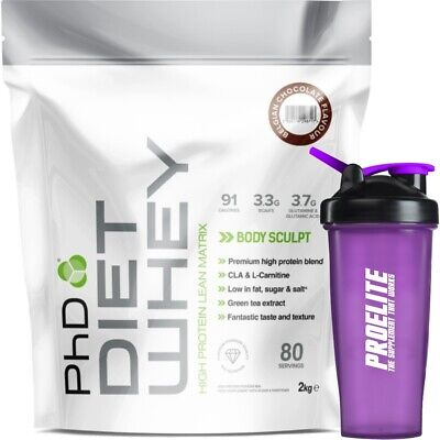 PhD Nutrition Diet Whey Meal Replacement Weight Fat Loss Lean Protein 2Kg Banana