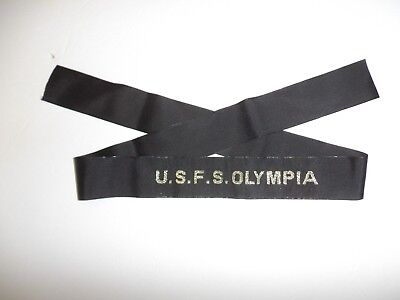 b3156  U.S.F.S. Flag Ship Olympia USFS Hat Tally USS IR31A