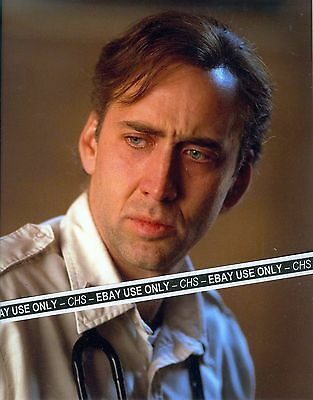 """NICOLAS CAGE SHARP!! COLOR 8x10 PHOTO """"BRINGING OUT THE DEAD"""" """"MOONSTRUCK"""""""