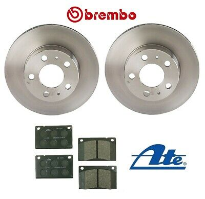 For Volvo 240 1990-1993 Front Complete Disc Brake Rotors KIT /& Pads Ate//Brembo