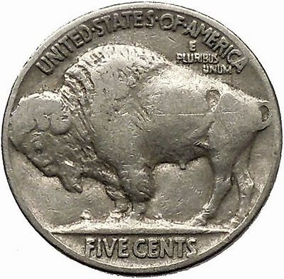 1937 BUFFALO NICKEL 5 Cents of United States of America USA Antique Coin i43909