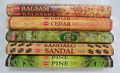 Hem Incense Balsam * Cedar * Pine * Forest * Sandal 5 x 20, 100 Sticks