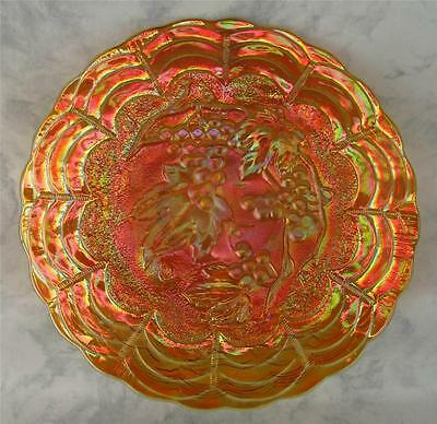 "IMPERIAL GRAPE by IMPERIAL ~ MARIGOLD CARNIVAL GLASS 6.75"" FLAT PLATE"