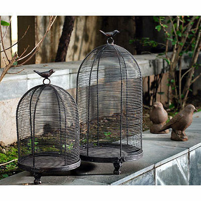 Wire Bird Cage Set Of 2 - 89695B
