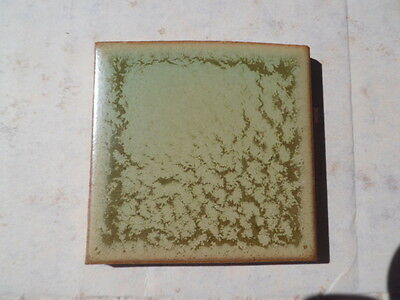 1950s NOS Retro Green / Brown Bathroom Kitchen Ceramic Tile