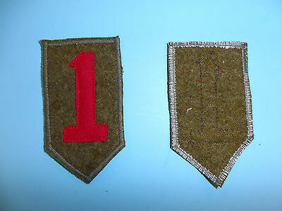 b4304 US Army 1930's 1st  Infantry Division patch wool on wool