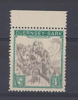 1963 Guernsey - Sark shipping company UM/M 4d def stamp VARIETY ~ double print