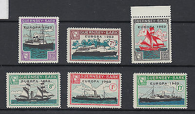 1963 Guernsey - Sark shipping company UM/M Europa ~ boats set of stamps