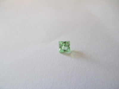 .52ct Loose Princess Cut Green Quartz 4 x 4mm