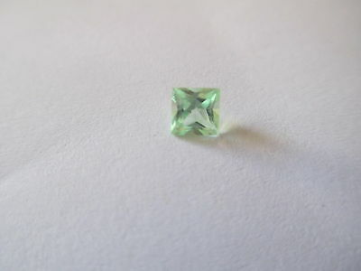 .59ct Loose Princess Cut Green Quartz 4.5 x 4.5mm