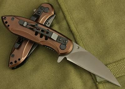 Camping tool Pocket X09 Stainless Steel Knife Survival hunting knife brown