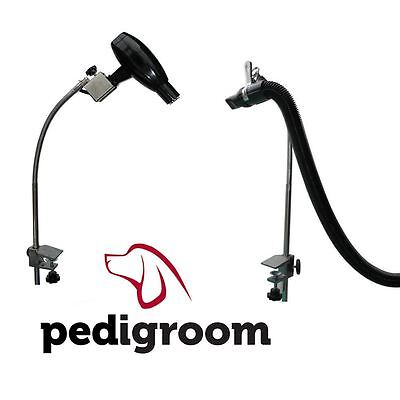 Pedigroom dog pet cat grooming table arm hair dryer hose clamp holder attachment