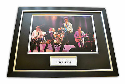 Huey Lewis Signed Framed Photo Display Power of Love Memorabilia Autograph + COA