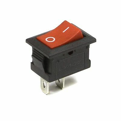 ON/OFF Rectangle Latching Rocker Switch 2 Circuits 250V I-0 Sign Red 2 PIN UK