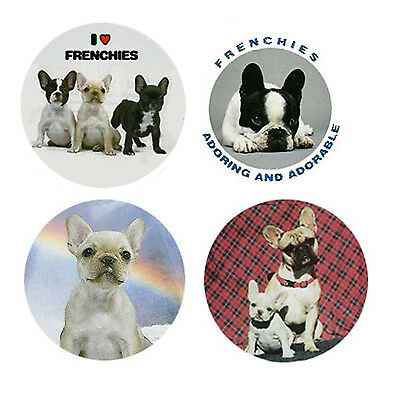 French Bulldog Magnets:   4 Friendly Frenchies for your Collection-A Great Gift