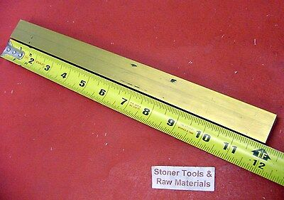 "1/2"" x 1"" C360 BRASS FLAT BAR 12"" long Solid Mill Stock H02 .50""x 1.00""x 12"""