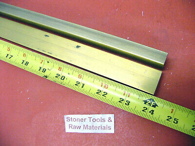 "2 Pieces 1/2"" x 1"" C360 BRASS FLAT BAR 24"" long Solid .500"" Mill Stock H02"