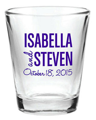 216 Wedding Favors Custom Glass 1.5oz Shot Glasses NEW 2015 Personalized Designs