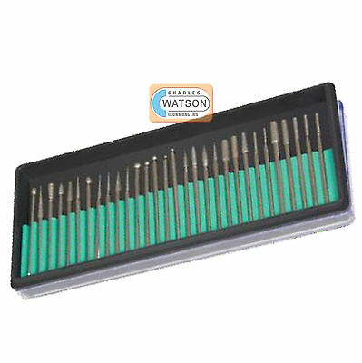 30 Piece Rotatif Ensemble de Meules Diamant Kit Dremel Compatible