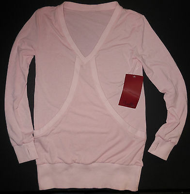 NWT Mirella Long Sleeve Pink Sweater with Front Pocket Girls 8/10 M714C