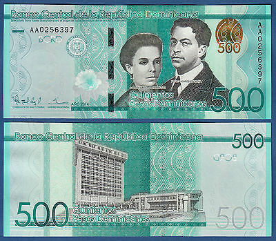 DOMINIKANISCHE / DOMINICAN Rep. 500 Pesos Dominicanos 2014 UNC P.NEW