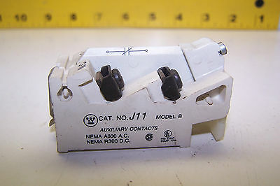 Westinghouse J11 Auxiliary Contact 1 N.o 1 N.c Contact Model B