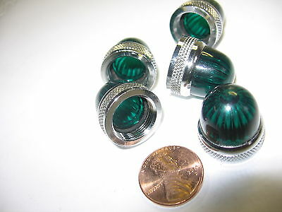5) Dialight 070-1192-300 Green Miniature Stovepipe Screw-on Lens Cap 70-1192-300
