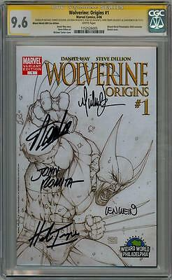 WOLVERINE ORIGINS #1 CGC SIGNATURE SERIES SIGNED x5 STAN LEE TURNER ROMITA WEIN