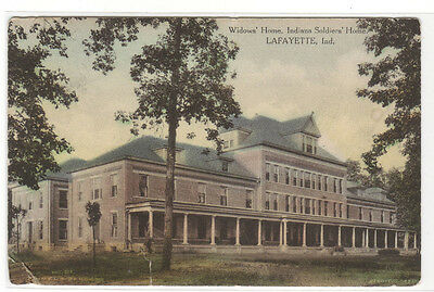 Widows Home Indiana Soldiers Home Lafayette Indiana 1915 hand colored postcard
