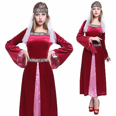 Womens Maid Marion Costume Medieval Robin Hood Fancy Dress Ladies Marian Outfit  sc 1 st  PicClick & WOMENS MAID MARION Costume Medieval Robin Hood Fancy Dress Ladies ...