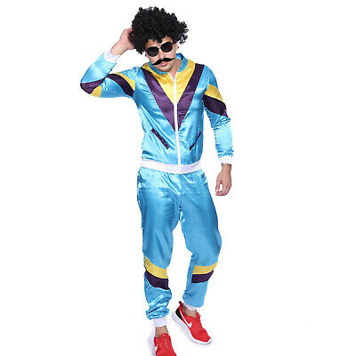 Adult 80s Tracksuit Shell Suit Scouser 1980s Mens Fancy Dress Costume